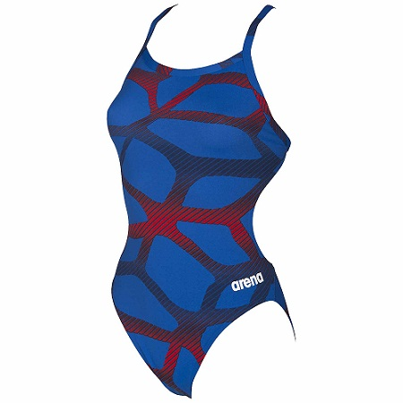 ARENA Women's Spider Challenge Back - MaxLife (Royal/Red (724))