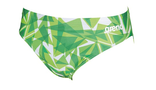 c4d955c562 ARENA Men's Shattered Glass Brief Swimsuit (Kelly Green (600))