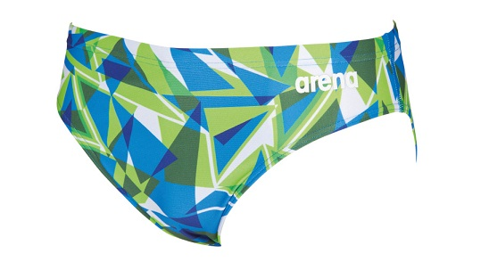 ca9be322cd ARENA Men's Shattered Glass Brief Swimsuit (Green/Blue (607))
