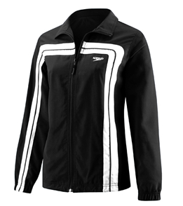 SPEEDO HYDRO VELOCITY (Velocity) Female Warmup Jacket (Black/White)
