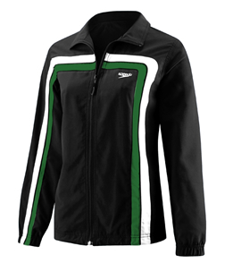 SPEEDO HYDRO VELOCITY (Velocity) Female Warmup Jacket (Black/Green)