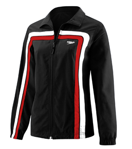 SPEEDO HYDRO VELOCITY (Velocity) Female Warmup Jacket (Black/Red)