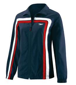 SPEEDO HYDRO VELOCITY (Velocity) Female Warmup Jacket (Navy/Red)