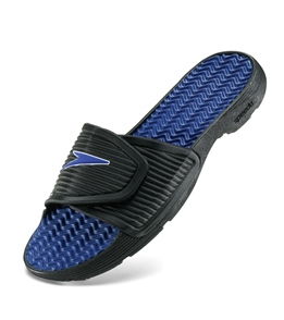 SPEEDO Men's Pool Slide - Men's Sandal (Blk/royal)