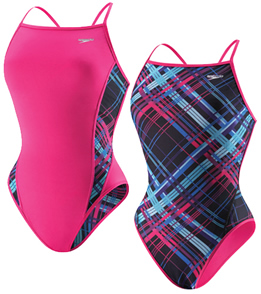SPEEDO Female Flipturns Plaid to Meet Ya Reversible Extreme Back (32-40 Only)