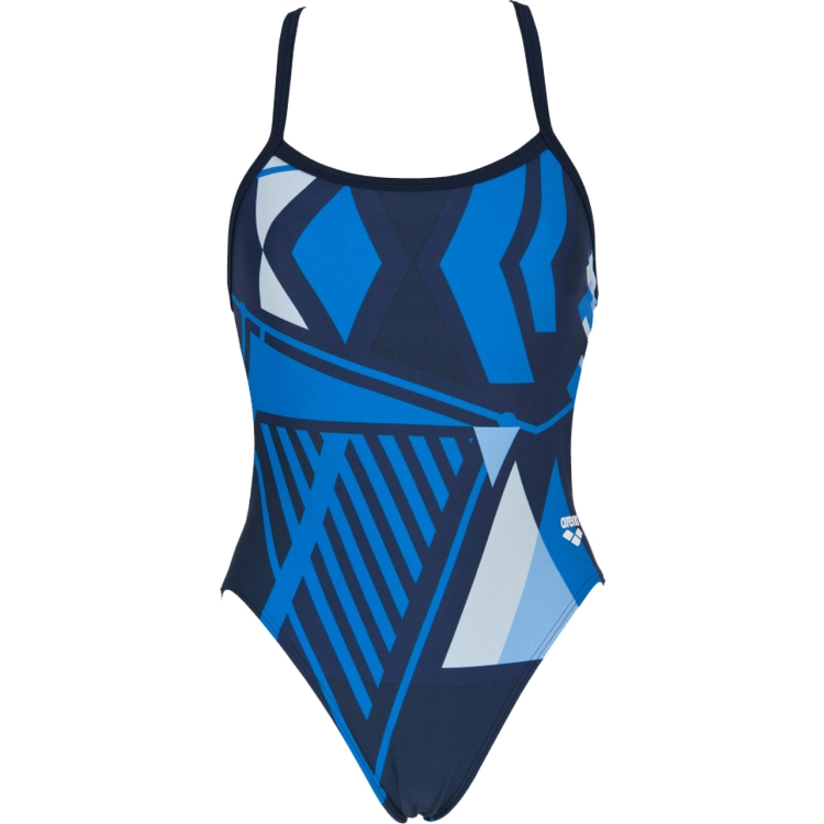 ARENA Women's Vertex Challenge Back One Piece Swimsuit (Navy/Royal)