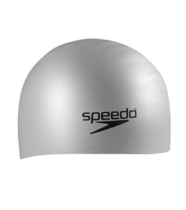 SPEEDO Silicone Long Hair Cap (Silver)