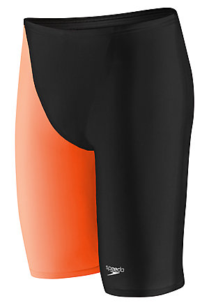SPEEDO Men's LZR Racer Pro Jammer with Contrast Leg (Black/Orange (008))