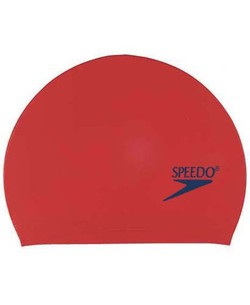 SPEEDO Solid Latex Caps (Red)