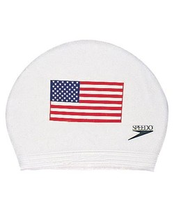 SPEEDO American Latex Flag Cap (Available in Black or White)