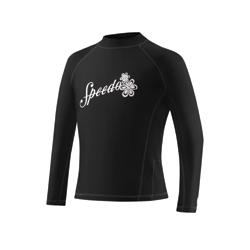SPEEDO Girl's Solid Long Sleeve Boom Rashguard