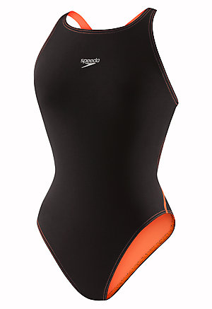 SPEEDO Women's LZR Racer Pro Recordbreaker with Comfort Strap (Black/Orange (008))