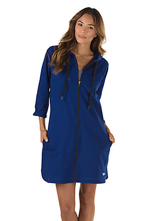 SPEEDO Aquatic Fitness Robe with Hood (Night Blue (400)) 296eff5ed
