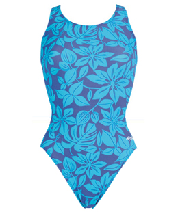 DOLFIN Fitness Female Caribbe Blue HP Back (22 Only) 7402L - Carribe Blue