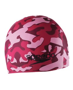 SPEEDO Jr. Camo Silicone Cap (Pink or Black)