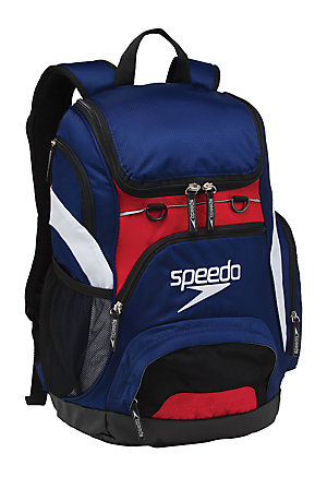 SPEEDO Large Teamster Backpack - 35L (Navy/Red/White (410))