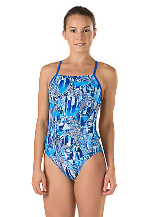 SPEEDO PowerPLUS Race Space Cross Back - Adult (Speedo Blue (431))