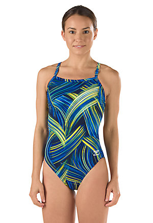 SPEEDO Endurance Turbo Stroke Flyback - Youth (Sapphire/Gold (977))