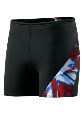 SPEEDO Male Laser Blast Spliced Square Leg (Navy/Red/White (395))
