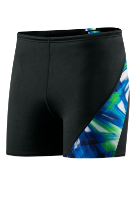 SPEEDO Male Laser Blast Spliced Square Leg (Blue/Green (403))