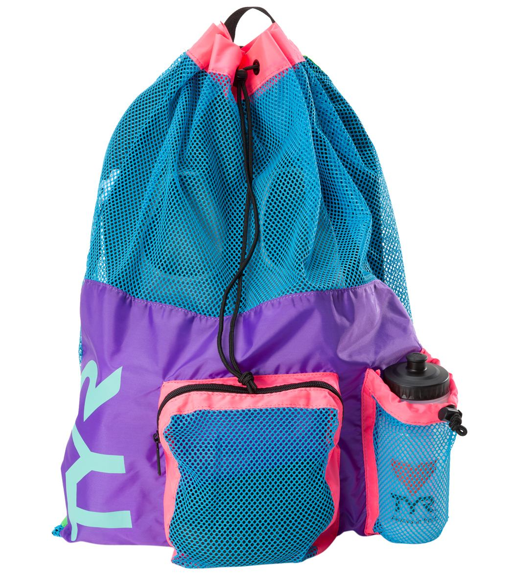 TYR Big Mesh Mummy Backpack (Purple/Blue (545))