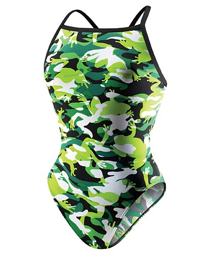 SPEEDO Camophibian Flyback Female Endurance+ (22, 26 Only) (Green)