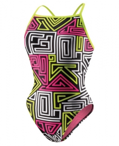 SPEEDO Flipturns Dazed Maze Y-Back (32-36, 40 Only)