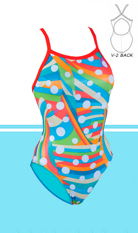 DOLFIN Uglies Female V-2 Back Bubbly (38 Only)