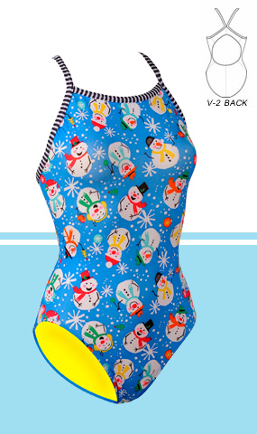 DOLFIN Uglies Female V-2 Back - Frosty (38 Only)