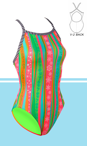 DOLFIN Uglies Female V-2 Back - Let It Snow (24-26, 36-38 Only)