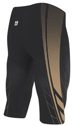 TYR AP12 Compression Speed High Short (Black/Gold (008))
