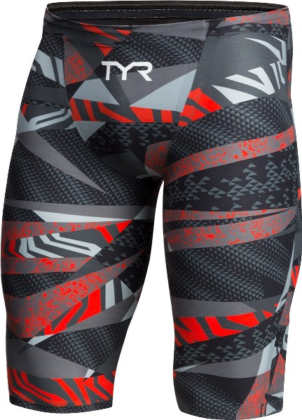 TYR Male Avictor Prelude High Waist Jammer (Grey/Red (051))