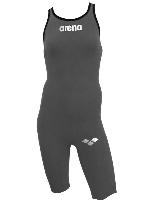 ARENA Powerskin X-GLIDE KneeSkin Open Back (Black or Silver)