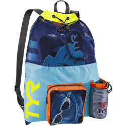 TYR Big Mesh Mummy Backpack (Blue/Yellow (465))