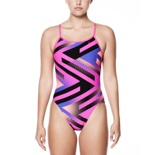 newest 7a5e2 f3382 Metro price 37.95-37.95 each. NIKE SWIM Womens Tidal Riot Performance  Modern Cut Out One Piece Swimsuit