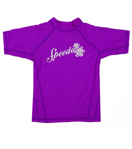 Speedo Girls Solid Short Sleeve Boom Rashguard