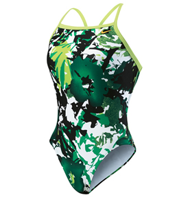 NIKE SWIM Aquaburst Female Lingerie Tank (22  Only) (Green)