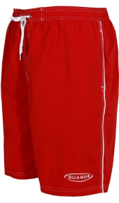 TYR Lifeguard Shorts - Male Challenger Trunk (Red)