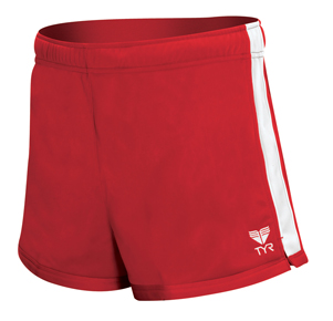 TYR Female Warm-Up Shorts - Adult (Red)