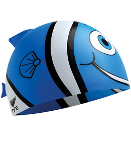 TYR Fish Fins Junior Silicone Cap (Blue)