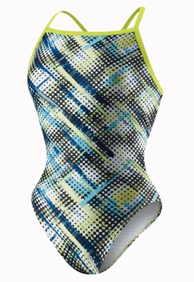 SPEEDO Flipturns Plaid Hatter Splash Back (36-40 Only)