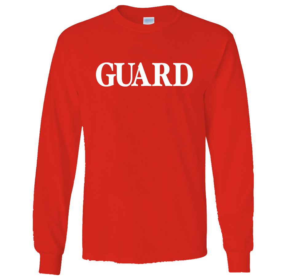 GUARD Unisex 6.1 oz Long Sleeve Tee Shirt New