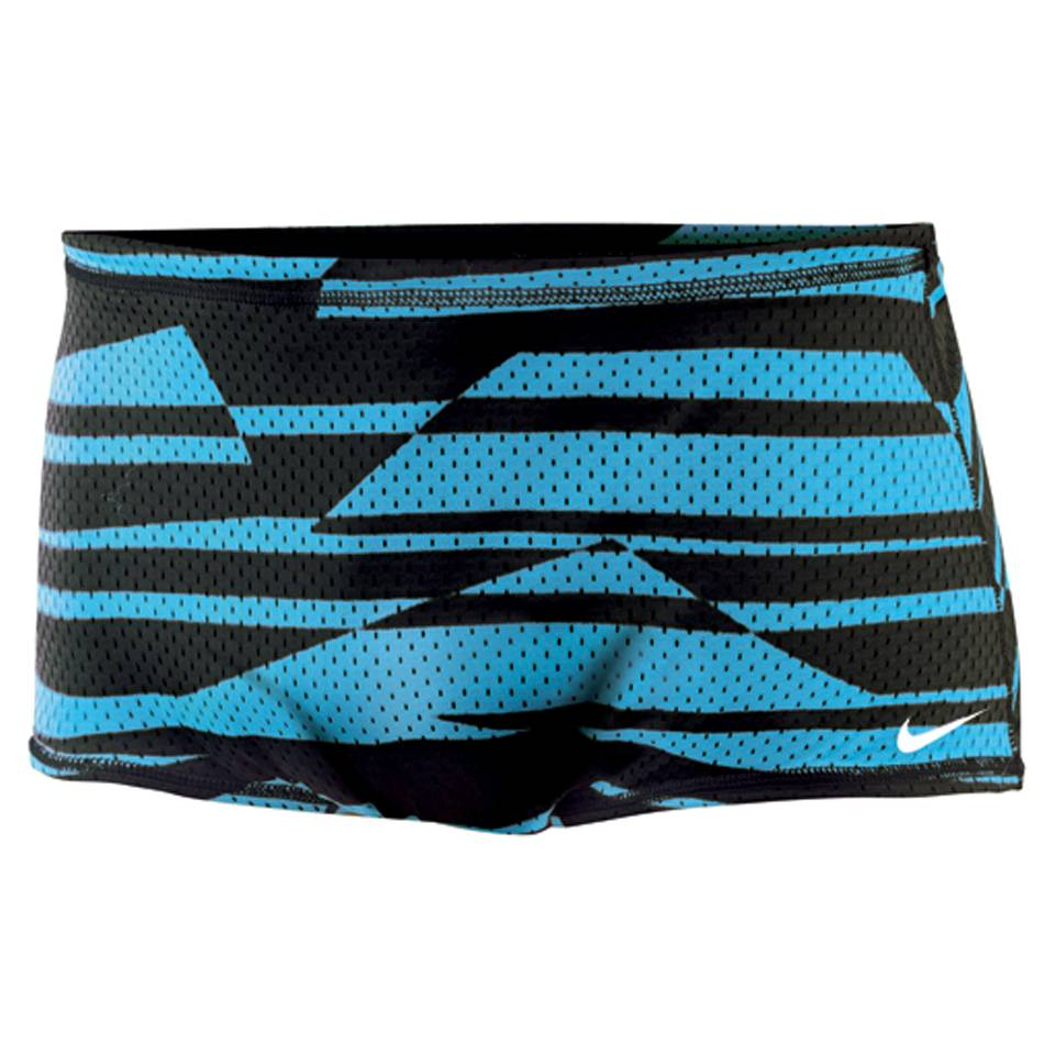 NIKE SWIM Shadow Stripe Reversible Mesh Drag Suit (Current Blue)