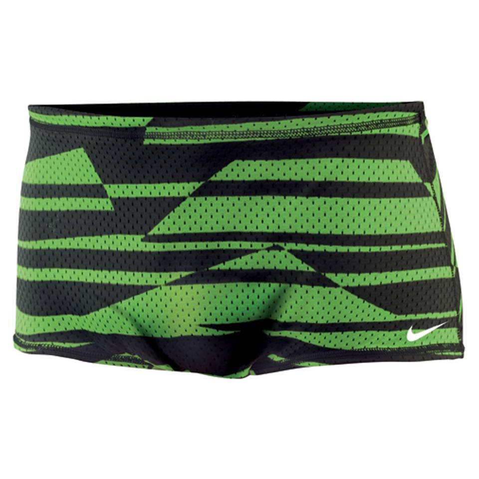 NIKE SWIM Shadow Stripe Reversible Mesh Drag Suit (Mean Green)
