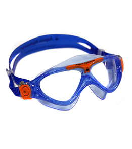 Aqua Sphere Vista Jr. Kids Mask Clear Lens (Light Blue/Orange)