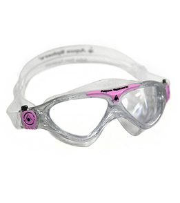 Aqua Sphere Vista Jr. Kids Mask Clear Lens (Glitter/Light Pink)