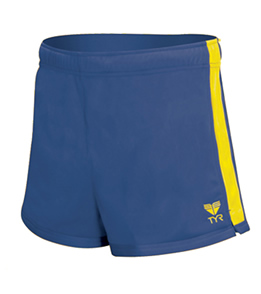 TYR Female Warm-Up Shorts - Adult (Royal/Gold)